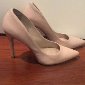 Saks Fifth Avenue Shoes - Nude Leather Heels